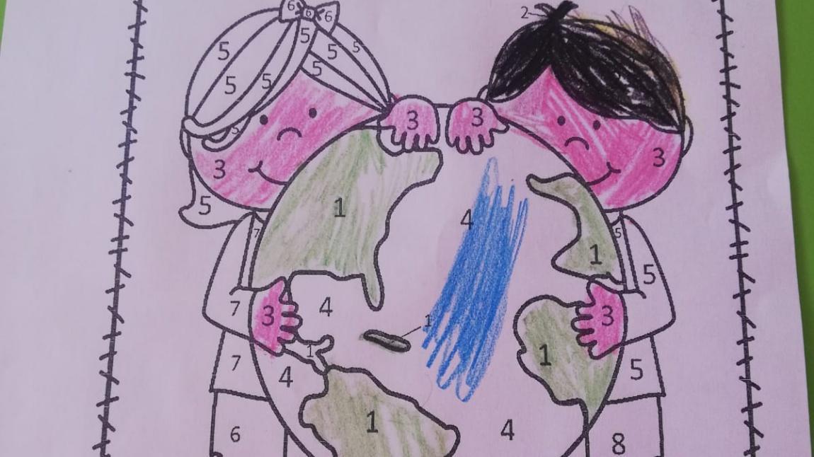 Kardelenler Sınıfı 'Sayılara Göre Resmi Renklendirme' Etkinliği